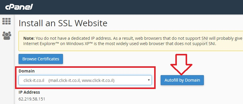 free ssl certificate for ip address